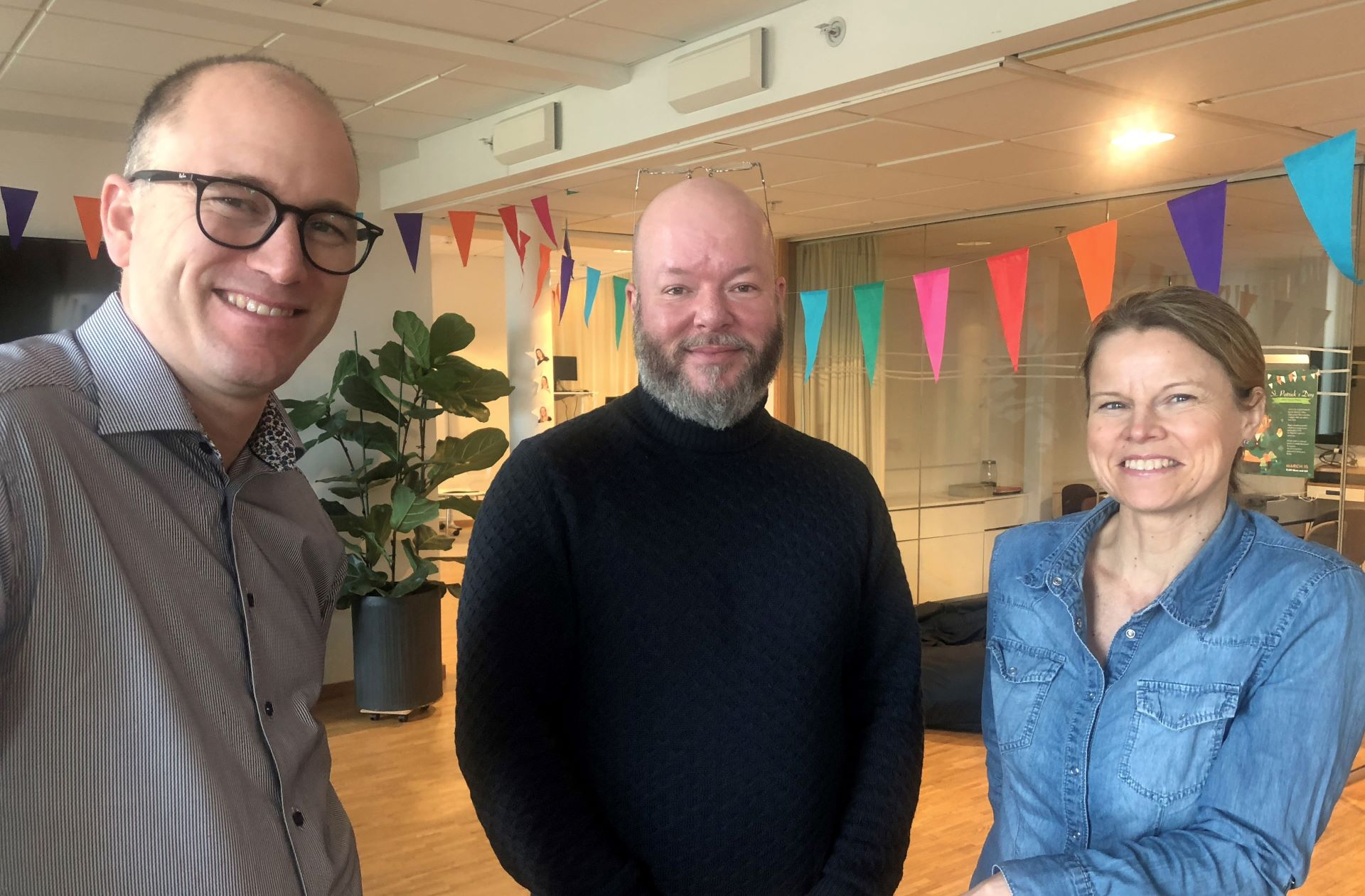 Image of Staffan, Peter and Anna