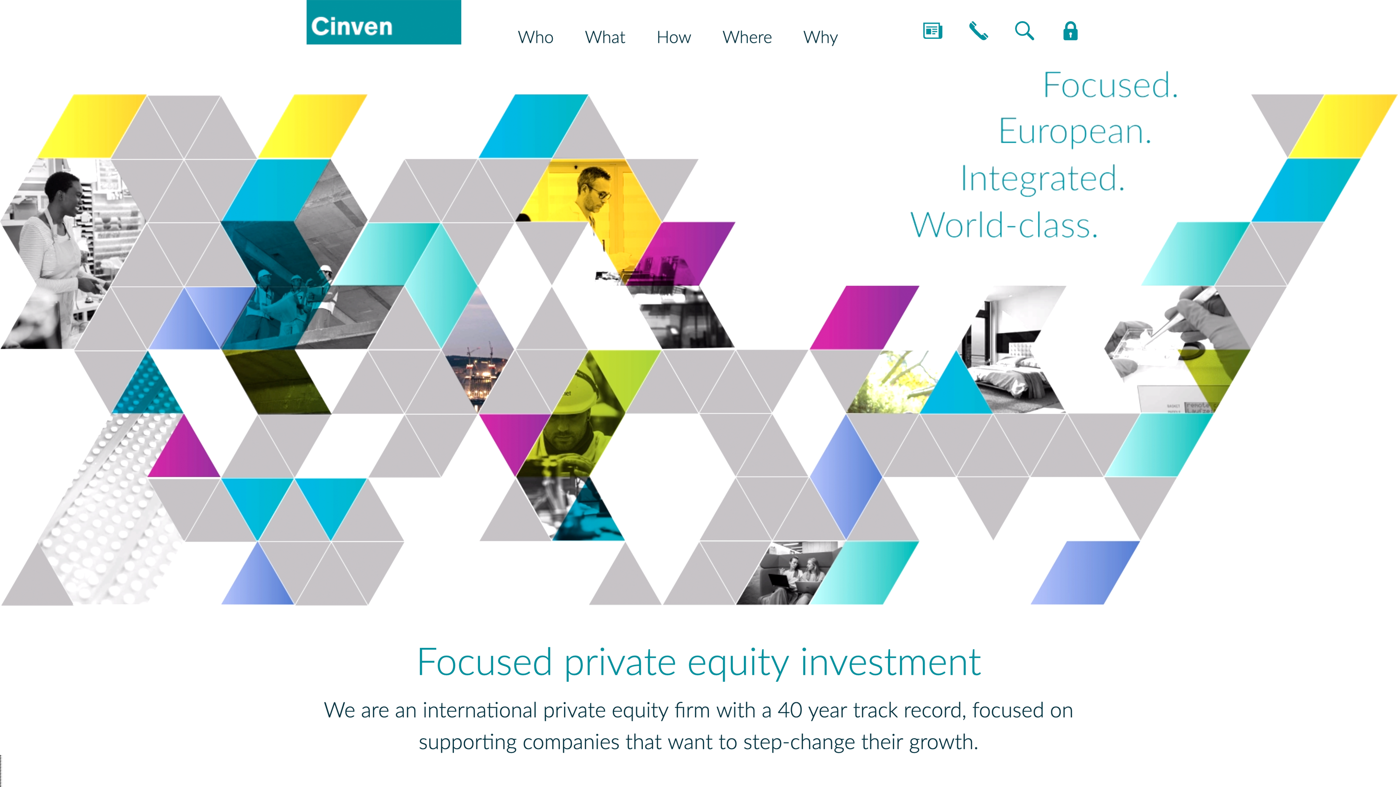 Screenshot of Cinven's website
