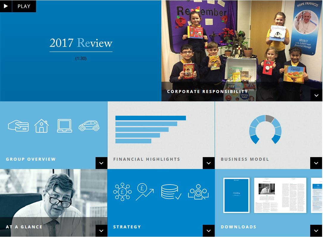 Screenshot of Provident Financial's Annual Report 2017