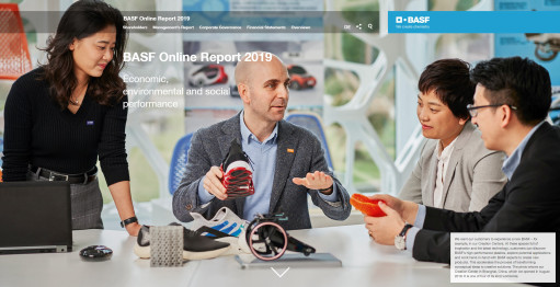 Screenshot of BASF's online annual report 2019